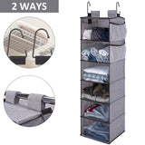 New storageworks hanging closet organizer 6 shelf closet organizer 2 ways dorm closet organizers and storage sweater organizer for closet gray 12x12x42 inches