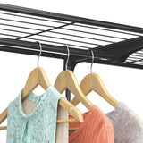 Try whitmor deluxe double rod freestanding closet heavy duty storage organizer