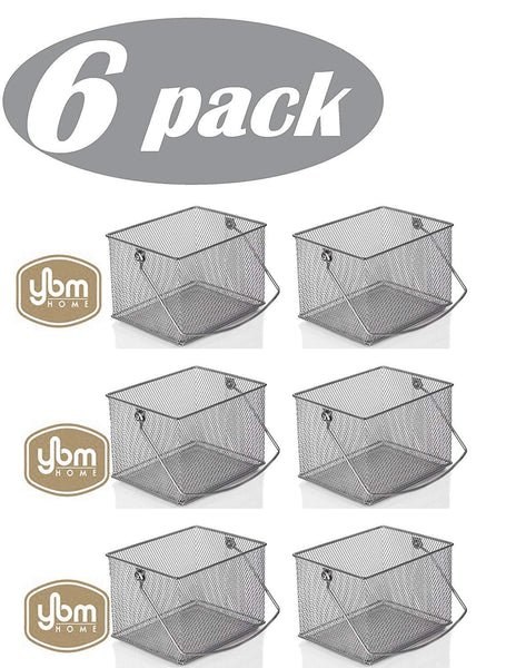 YBM Home Rectangle Mesh Condiment Caddy/ Utensil, Napkin Holder Carrier 2370 (6)