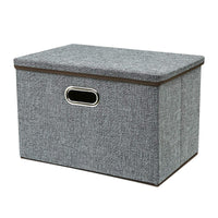 Zonyon Large Storage Box, 17.7'' Sturdy&Strong Collapsible Fabric Storage Bin Container Basket Home Cube Organizer with Removable Lid for Bedroom,Closet,Shelves,Office,Grey