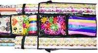 New freegrace double sided hanging gift wrap organizer large 16 x 41 wrapping paper rolls storage bag tearproof space saving closet gift bag organization solution black