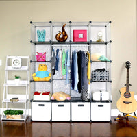 Buy unicoo multi use diy 20 cube organizer wardrobe bookcase storage cabinet wardrobe closet with design pattern deeper cube semitransparent