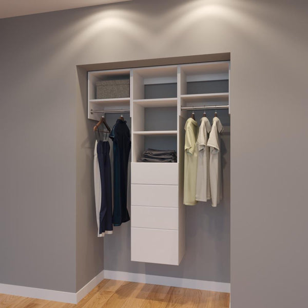 Modular Closets 4.5 FT Closet Organizer System - 54 inch - Style A