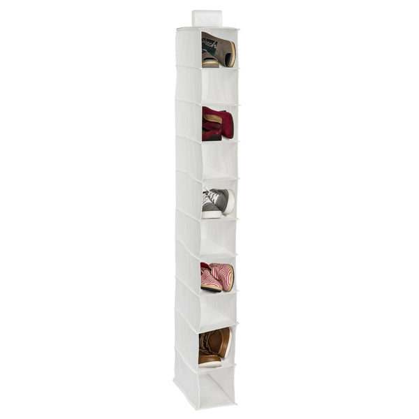 10-Shelf Hanging Closet Organizer, White