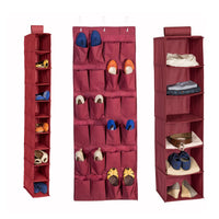 3-Piece Closet Organization Kit, Maroon