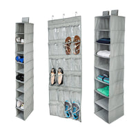 3-Piece Closet Organization Kit, Light Grey