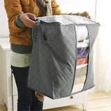 Foldable Storage Bins Clothes Blanket Closet Organizer Bag Case