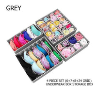 4Pcs/Set Collapsible  Storage Drawer Closet Organizer Underwear, Socks.Scarfs