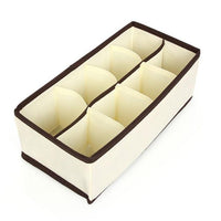4 Pcs Set Underwear Bra Organizer Storage Box Beige Drawer Closet Organizers Boxes For Underwear Scarfs Socks Bra