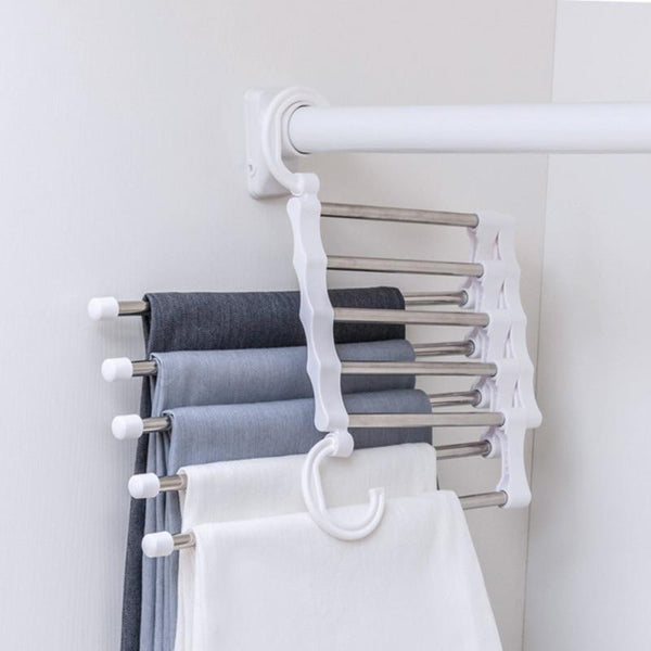 Closet Organizer Trouser Pants Ties Scarf Rack