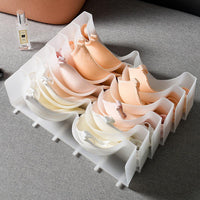 Detachable Plastic Bra Divider Drawer Closet Organizer (5 Grids)-Luckyfine