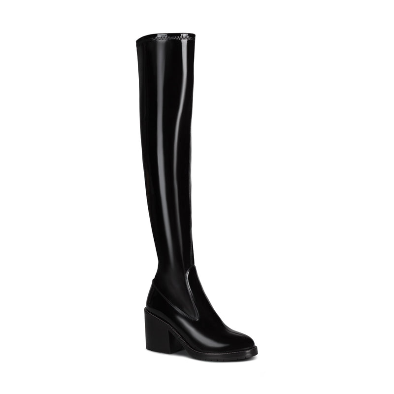 Madison Over The Knee - Black Patent