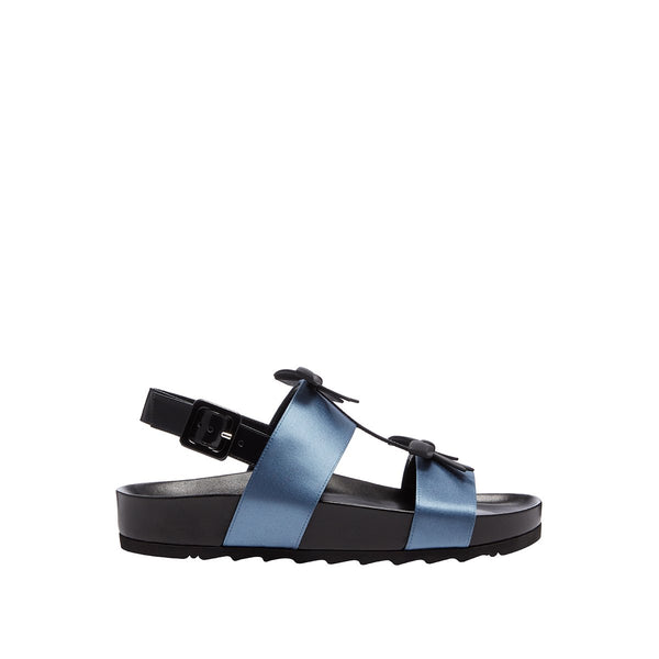 Berkley Bow Sandal - Dusty Blue
