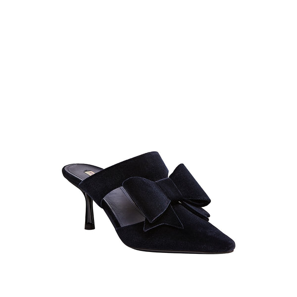 Nina Pointed Toe Mule - Blue