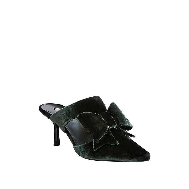 Nina Pointed Toe Mule - Emerald
