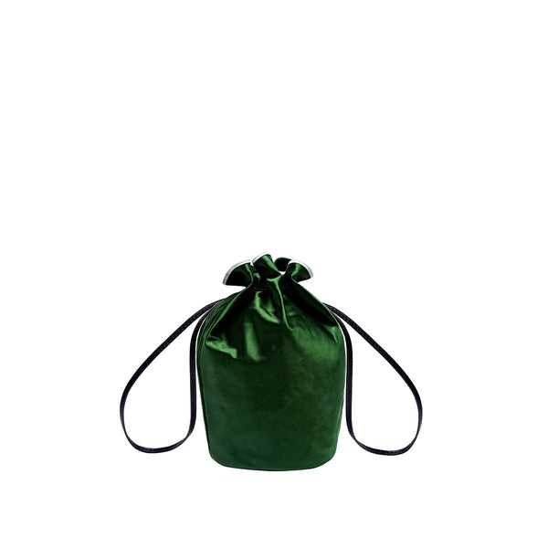Miss Daisy Satin Pouch - Green