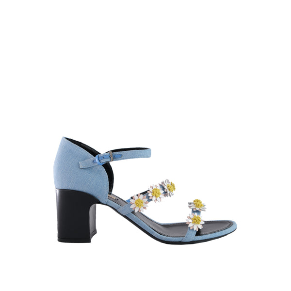 Bea Block Heel Sandal - Light Blue