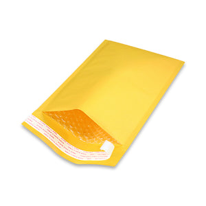 EcoSwift Self-Seal Kraft Gold Bubble Mailers #00 - 5 x 10""