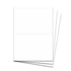 "Laser Labels - White, 8 1/2 x 5 1/2"" (2 Labels per Sheet)"