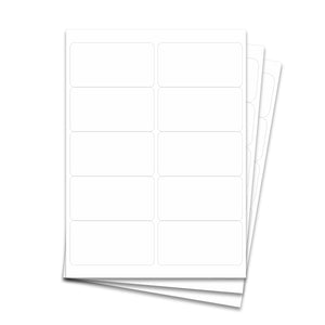 "Laser Labels - White, 4 x 2"" (10 Labels per Sheet)"