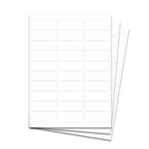 "Laser Labels - White, 2 5/8 x 1"" (30 Labels per Sheet)"