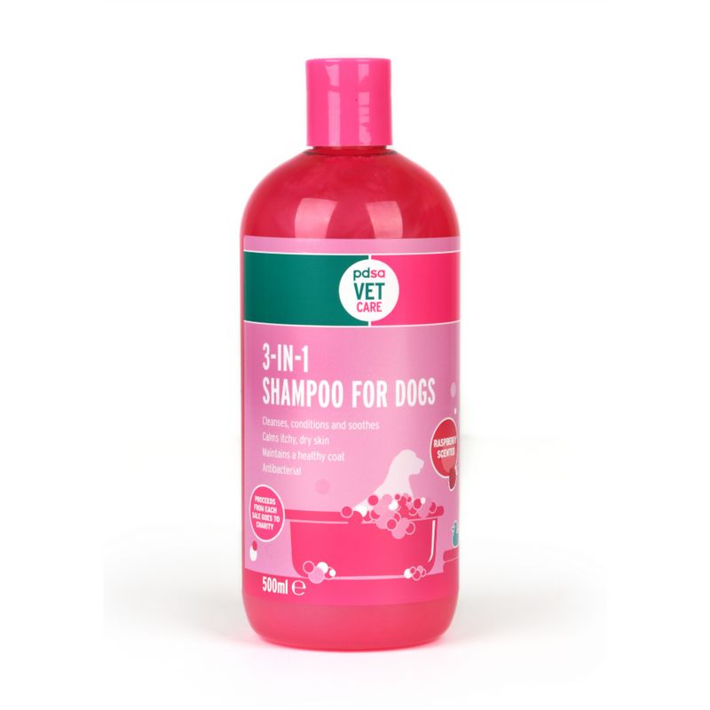 PDSA Vet Care 3-in-1 Shampoo for Dogs 500ml