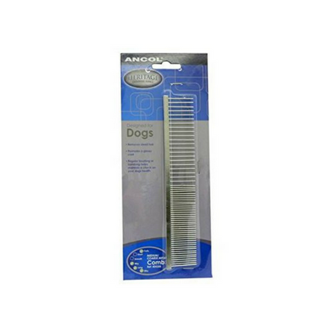 Ancol Metal Comb for Medium/Coarse Coats-Metal Comb for Medium/Coarse Coats-PDSA Pet & Gift Store