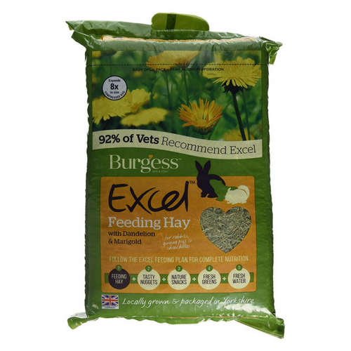 Burgess Excel Feeding Hay with Dandelion and Marigold