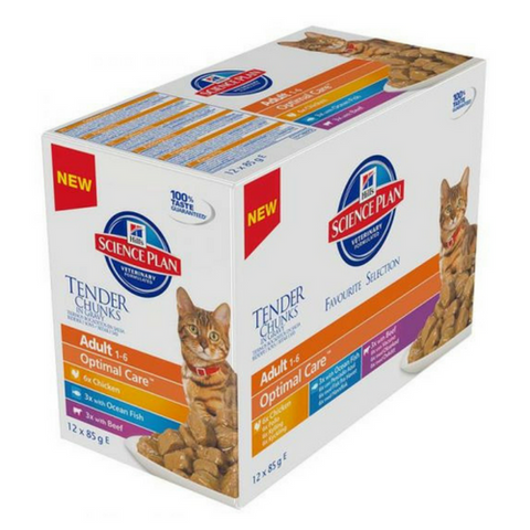 Hills Science PlanTender Chunks Multi-Pack Cat Food