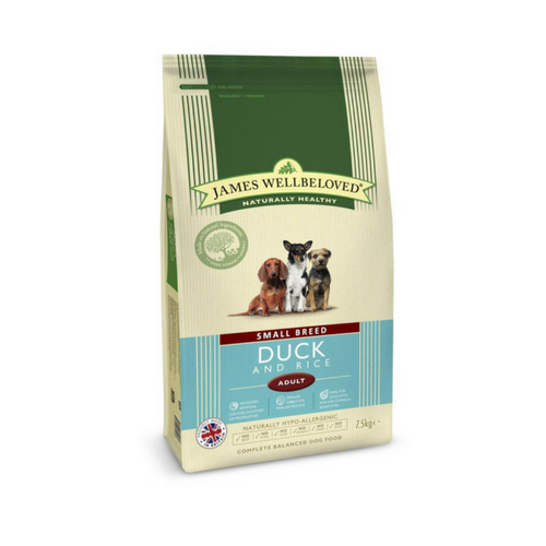 James Wellbeloved Small Breed Duck & Rice-Small Dog Food-PDSA Pet & Gift Store