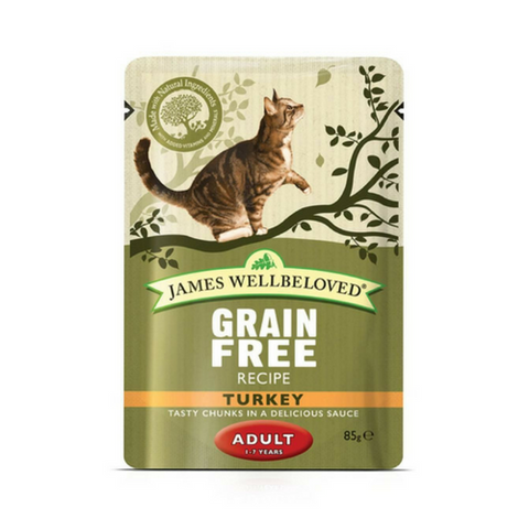 James Wellbeloved Wet Turkey Pouches for Cats