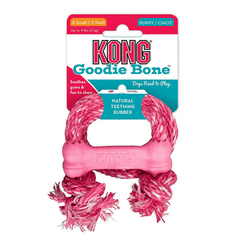 Kong Puppy Goodie Bone with Rope-Dog Toy-PDSA Pet & Gift Store