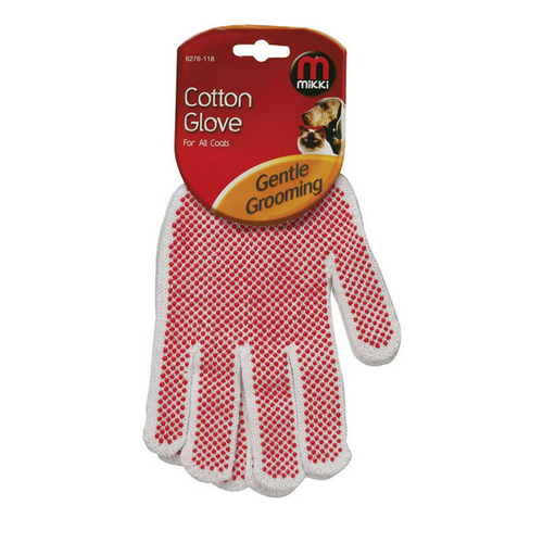 Mikki Cotton Glove for All Coats-Cat Grooming Glove-PDSA Pet & Gift Store