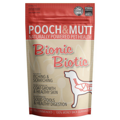Pooch & Mutt Bionic Biotic Dog Supplement