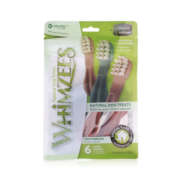 Whimzees Toothbrush Dog Treats - Pack of 6
