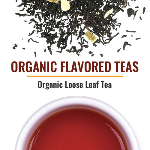 Organic Flavored Teas All our Organic flavored teas use natural flavoring and are compliant with USDA organic rules. Organic flavored teas should be purchased in small quantities to keep the flavor fresh. The ingredients in our organic flavored teas are all certified organic including the botanicals that lend aesthetic beauty.