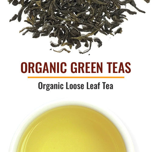 Organic Green Teas Organic Green varietals are included from several origins including China, Japan and India. They include well known types such as Sencha and Gunpowder and high-end premium grades such as White Monkey and even a hand-tied flowering tea. Some are certified Fair Trade.