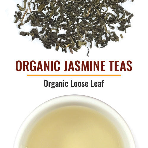 Organic Jasmine Teas Jasmines are scented at origin and not flavored teas. We offer both a leaf Jasmine as well as Jasmine Pearls. Several blends are also included, among them, one blended with Oolong and one with Mint. Most are also certified Fair Trade. Jasmines are excellent with food and should be an essential part of a tea company's portfolio.