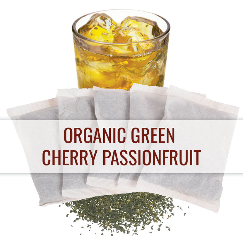 Organic Green Cherry Passionfruit - 1 Gallon Iced Tea