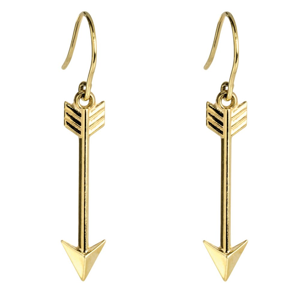Arrow Earrings, 9ct Yellow Gold