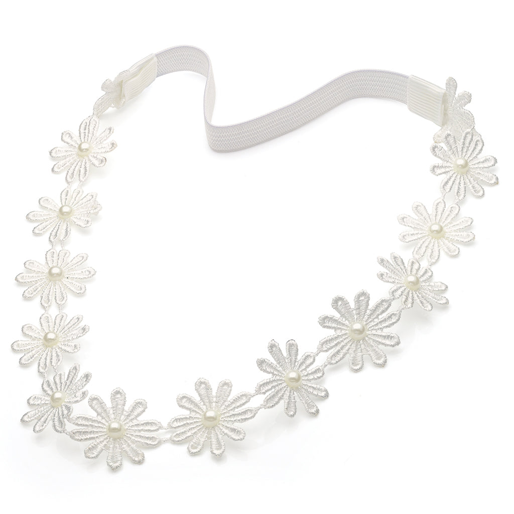 White Daisy Headband