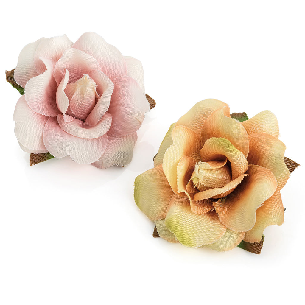 2x Dusky Rose Hair Clips
