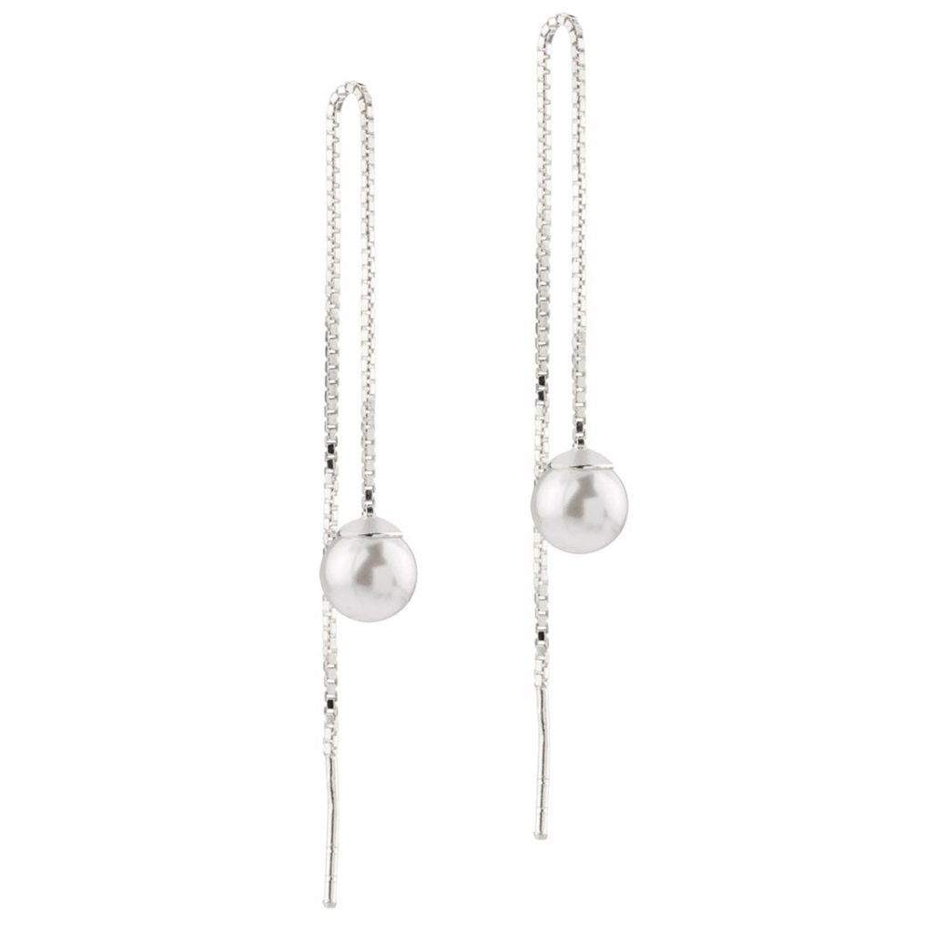 Faux Pearl Threaders, 925 Sterling Silver