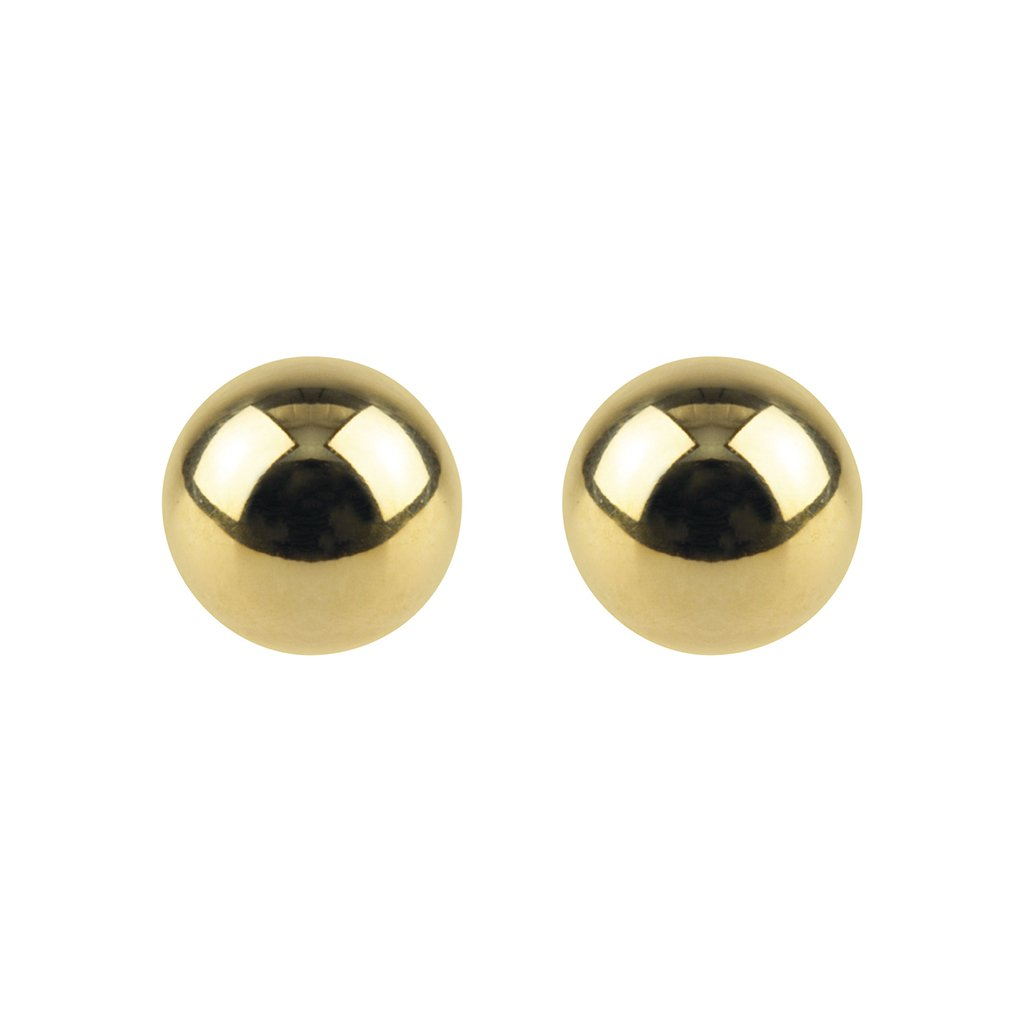 Tiny Dot Studs, 9ct Yellow Gold