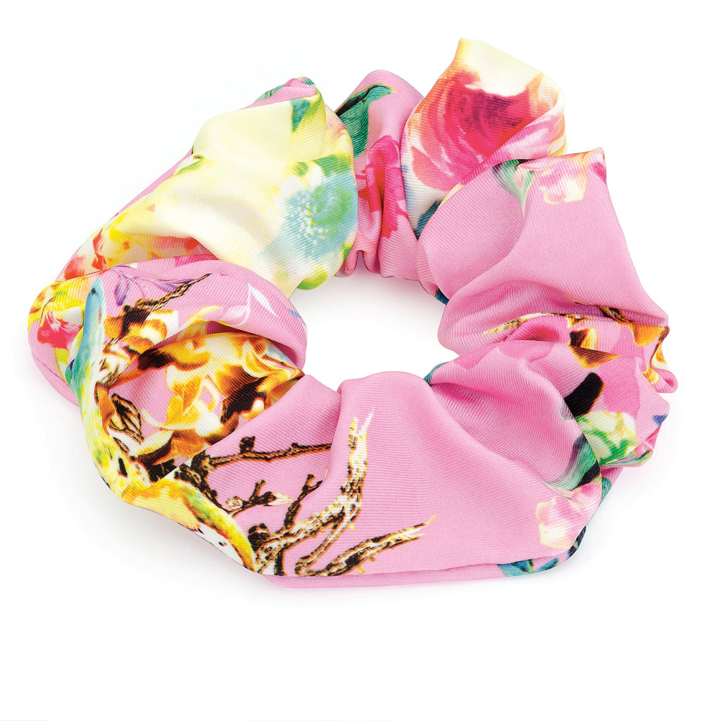 Pink Print Hair Scrunchie