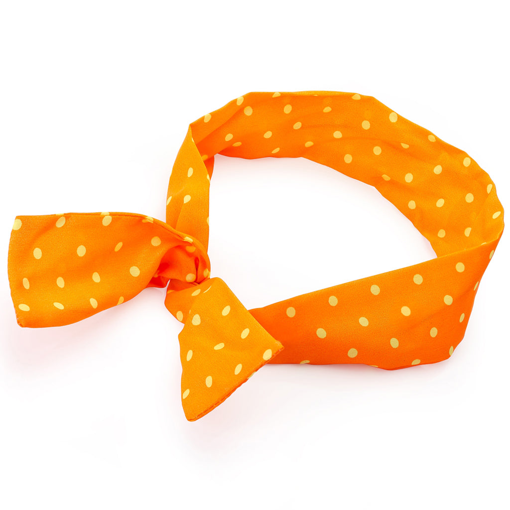 Neon Polka Dot Wire Head Wrap