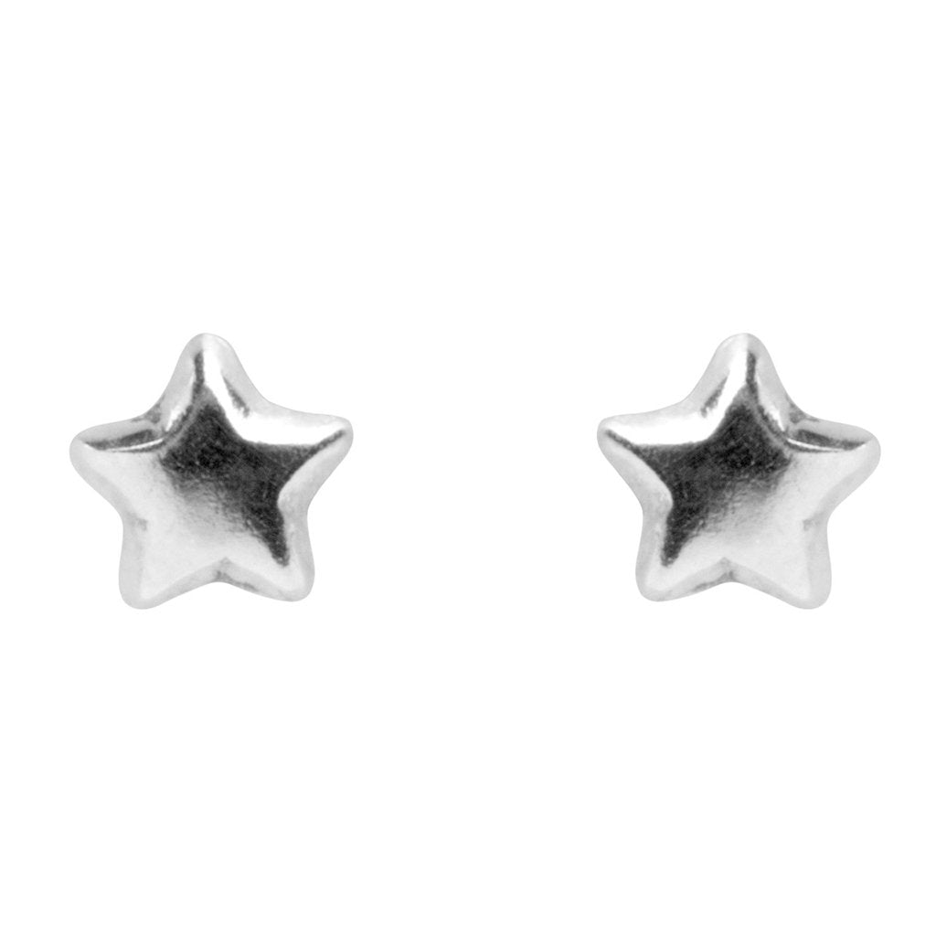 Tiny Star Studs, 925 Sterling Silver