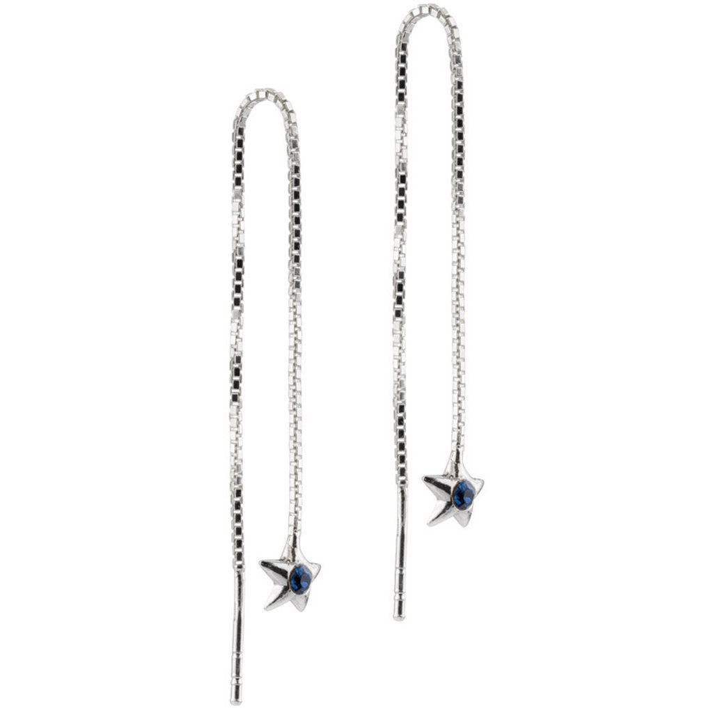 Blue Star Threaders, CZ, 925 Sterling Silver