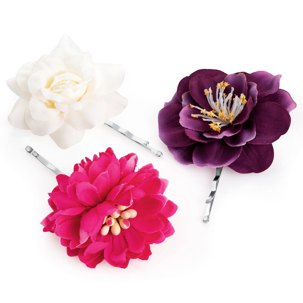 x3 Mini Flowers Hair Clips