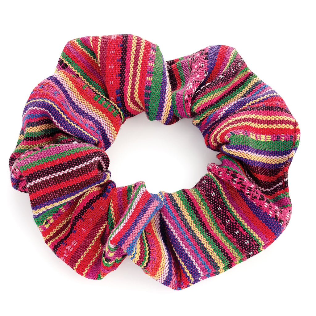 Woven Tribal Hair Scrunchie